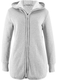 Трикотажная куртка с флисом (светло-серый меланж) Bonprix