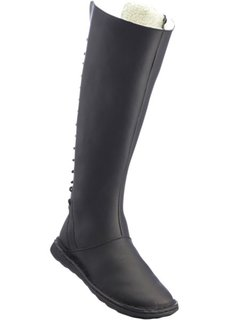 Удобные кожаные сапоги (черный) Bonprix