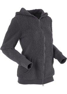 Плюшевая куртка (шиферно-серый) Bonprix