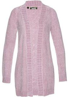 Кардиган из шенильной пряжи (розовый матовый) Bonprix