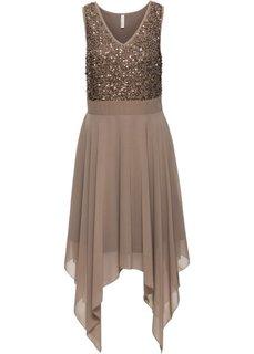 Вечернее платье с пайетками (светло-коричневый) Bonprix