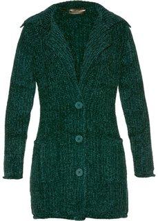 Вязаное пальто (темно-зеленый) Bonprix