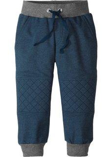 Трикотажные брюки с уплотненными вставками на коленях (темно-синий меланж) Bonprix