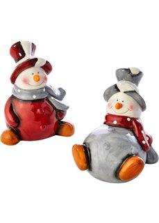 Декоративные фигурки снеговиков Пауль и Петер (2 изд.) (серый/красный/белый) Bonprix