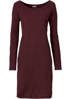 Вязаное платье (темно-бордовый) Bonprix