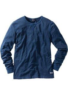 Футболка Regular Fit с длинным рукавом (темно-синий) Bonprix