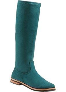 Удобные сапоги-стретч (сине-зеленый) Bonprix