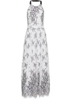 Платье с кружевной отделкой (белый) Bonprix