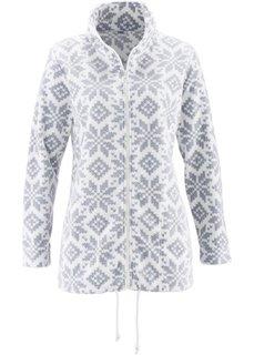 Флисовая куртка (цвет белой шерсти/серебристый с рисунком) Bonprix