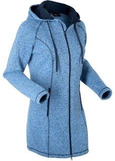 Удлиненная флисовая куртка (голубой меланж) Bonprix