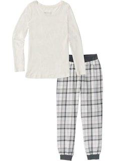 Фланелевая пижама (кремовый с рисунком) Bonprix