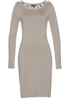 Вязаное платье ПРЕМИУМ (натуральный камень) Bonprix