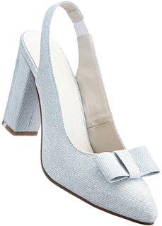 Туфли с перепонкой (серебристый) Bonprix
