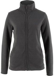 Базовая флисовая куртка (серый меланж) Bonprix