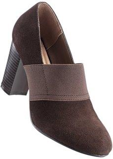 Замшевые туфли (темно-коричневый) Bonprix