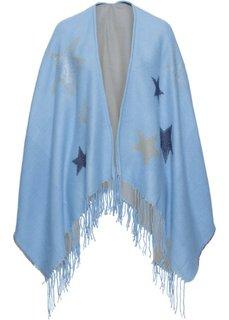 Пончо со звездами (нежно-голубой) Bonprix