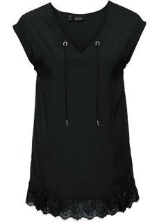 Шифоновая блузка (черный) Bonprix