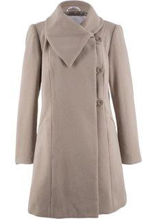 Короткое пальто (серо-коричневый) Bonprix