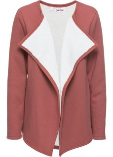 Трикотажная куртка с плюшем (бордово-коричневый) Bonprix