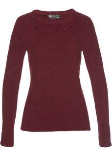 Пуловер (темно-бордовый) Bonprix