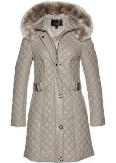 Стеганая куртка из искусственной кожи (натуральный камень) Bonprix