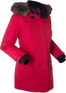 Функциональная куртка-парка на ватной подкладке (темно-красный) Bonprix