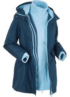 Функциональная куртка 3 в 1 (темно-синий/нежно-голубой) Bonprix