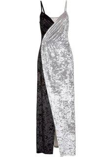 Бархатное платье (черный/серый) Bonprix