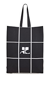 Courreges Fabric Grid Bag
