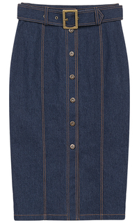 Джинсовая юбка с поясом La Reine Blanche