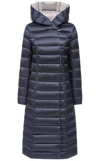 Пальто на натуральном пуху с поясом Madzerini