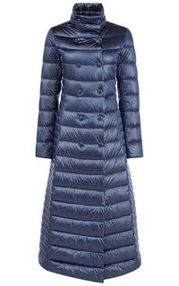 Синее пальто на натуральном пуху La Reine Blanche