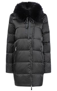 Пальто на натуральном пуху с отделкой мехом песца La Reine Blanche