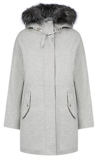 Пальто на синтепоне с отделкой мехом лисы Madzerini