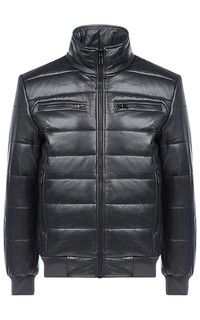 Кожаная куртка на синтепоне Jorg Weber