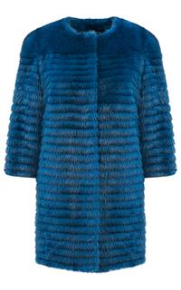 Жакет из меха норки с отделкой натуральной кожей Virtuale Fur Collection