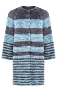 Жакет из меха норки на трикотаже Virtuale Fur Collection