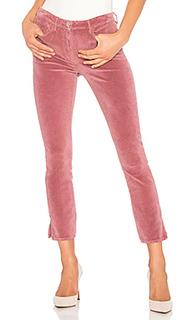 Укороченные бархатные брюки с разрезами higher ground - 3x1