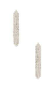 Серьги с кристаллом ciara - Amber Sceats