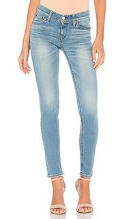 Вытертые джинсы-скинни стретч - Brappers Denim
