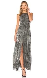 Платье с металлическим отливом high neck - Halston Heritage