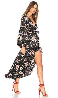 Платье с запахом luna - MISA Los Angeles