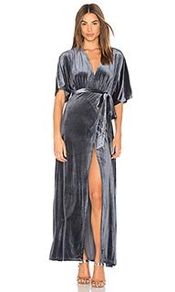 Платье с запахом из бархата dreamer - WYLDR
