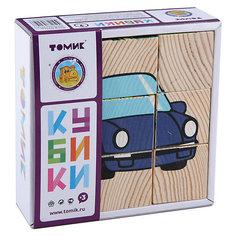 """Кубики """"Транспорт"""", 9 штук, Томик"""