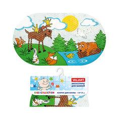 """Коврик для ванны """"Лесные животные"""" 69*39 см Valiant"""