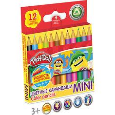 """Цветные карандаши """"Mini"""" 12 цветов, Play-Doh Академия групп"""