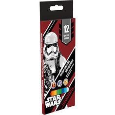 Цветные карандаши, 12 шт, Star Wars Академия групп