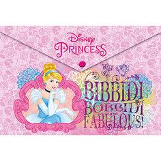 Папка-конверт А4 с застежкой, Принцессы Дисней Академия групп