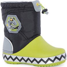 Сапоги Kids' CrocsLights LodgePoint RoboSaur Boot для мальчика CROCS