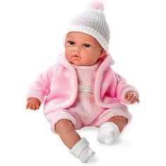 Кукла с функцией плача, Elegance, в флисовой курточке, комбинезоне, шапочке, 33 см, Arias